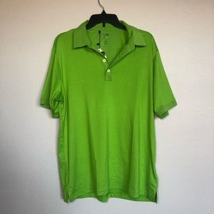 NEW Adidas Men's Climalite Green Golf Polo Shirt